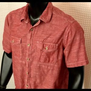 Woolrich Western Style Short Sleeve Button Up